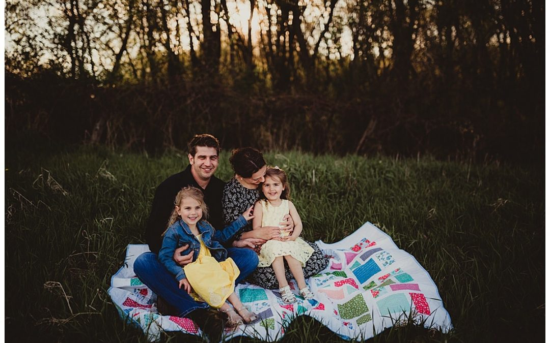 Golden Hour Photoshoot with Family of Four | Verona, WI